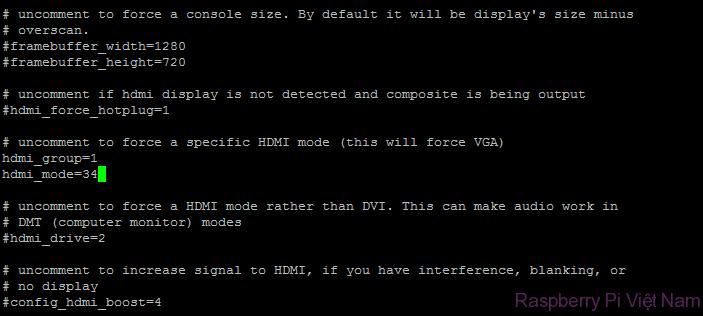 Thiết lập bật HDMI