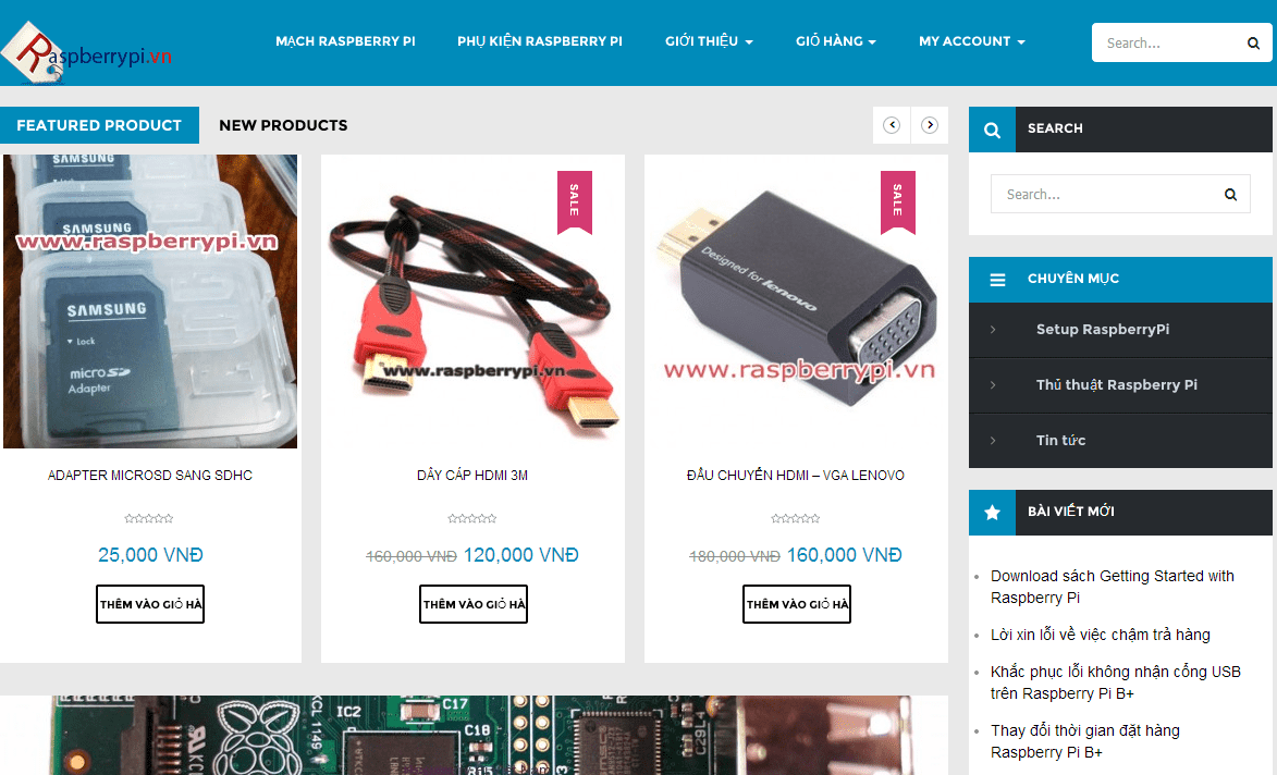 Website Raspberry Pi Việt Nam