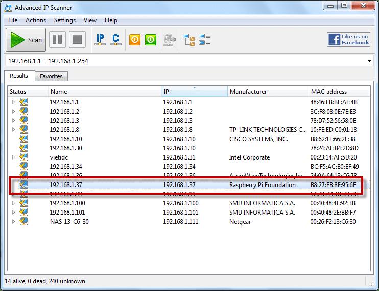 Địa chỉ IP của Raspberry Pi
