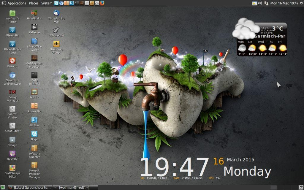 Ubuntu Mate có giao diện đồ họa rất đẹp