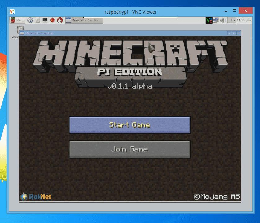 RealVNC: Chơi Minecraft Pi qua VNC tốt nhất.