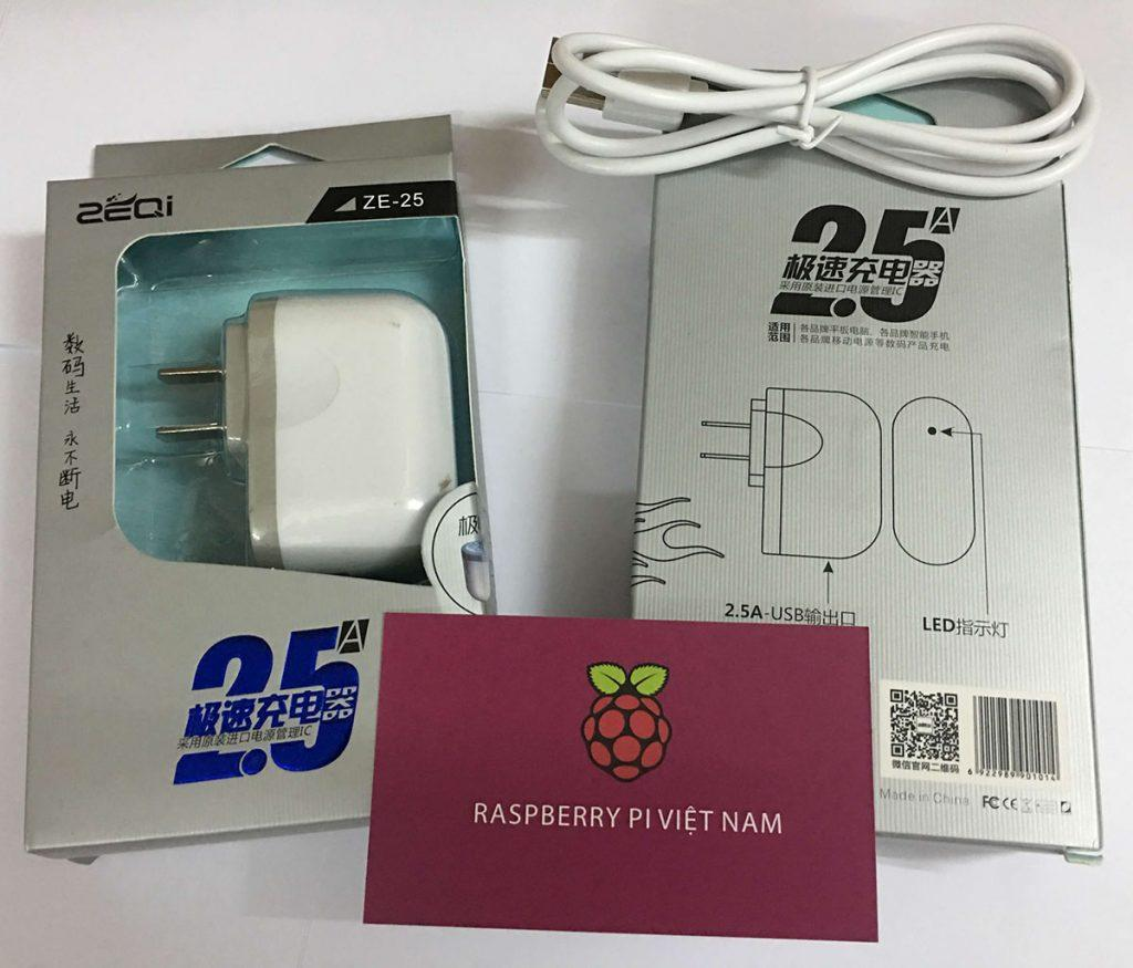 Nguồn Raspberry Pi 3 - ZEQI