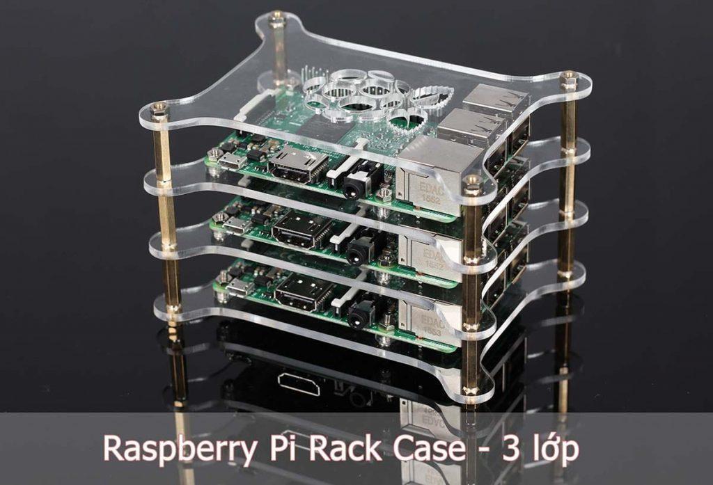 Raspberry Pi Rack Case với 3 lớp