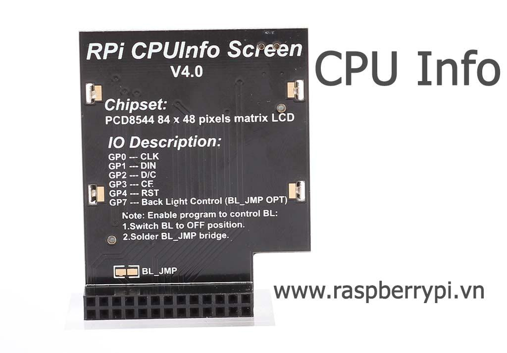 Mặt sau CPUInfo Screen