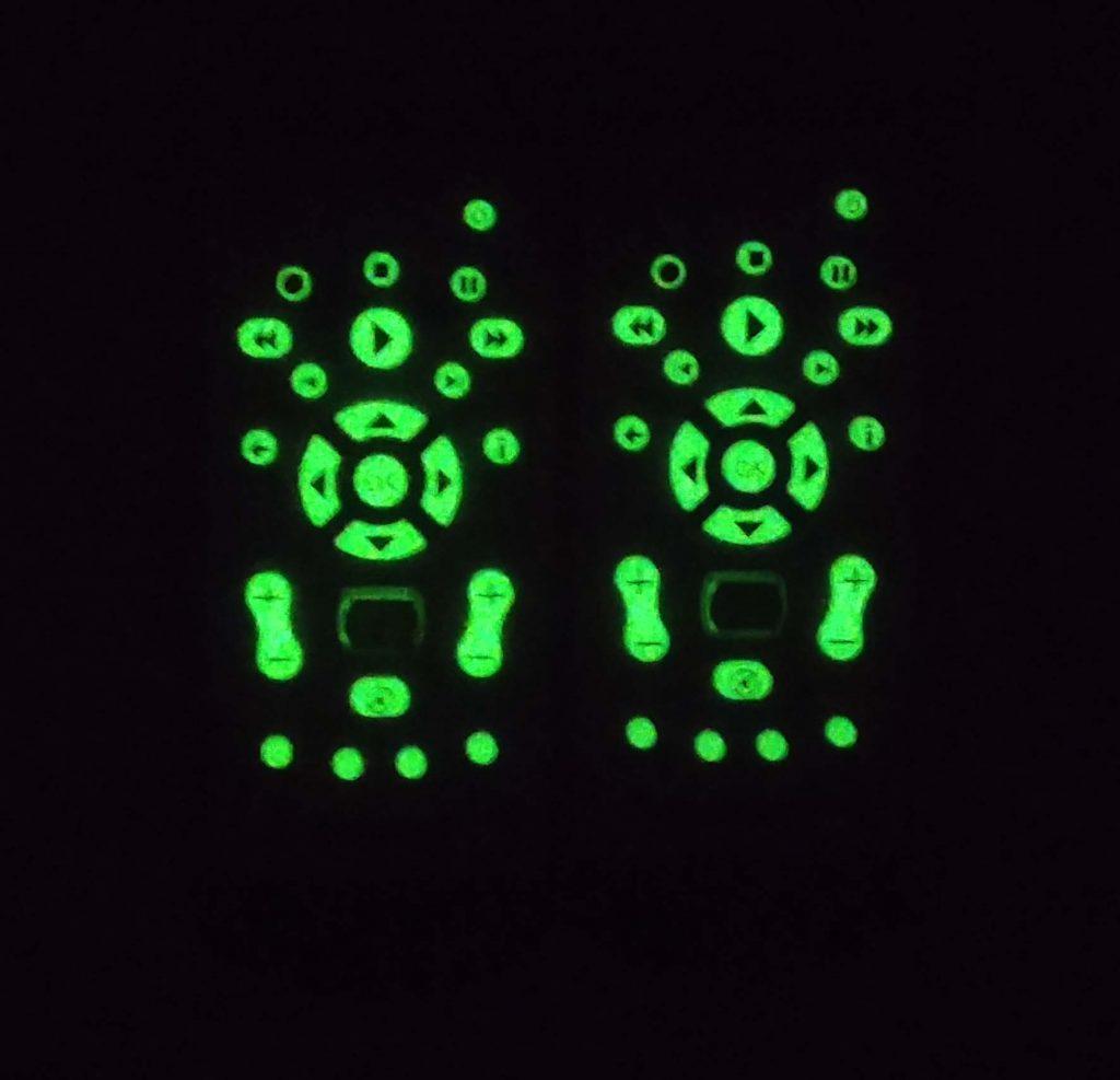 Các nút bấm có thể phát sáng vào ban đêm