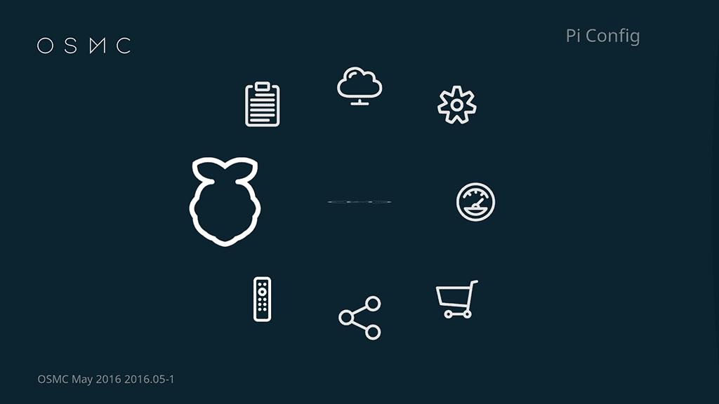 Truy cập menu Pi Config để thiết lập phần cứng