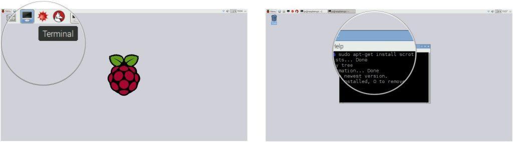 Lệnh tải và cài đặt scrot - ứng dụng chụp ảnh màn hình trên Raspbian