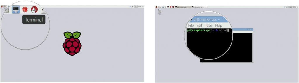 Lệnh scrot để chụp màn hình Raspbian